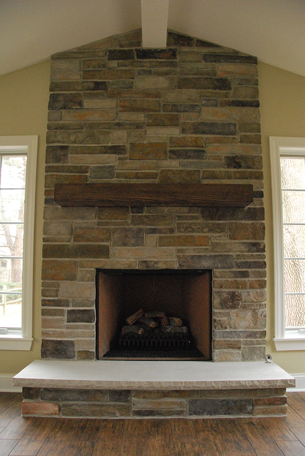cultured stone installing fireplace manufactured around veneer